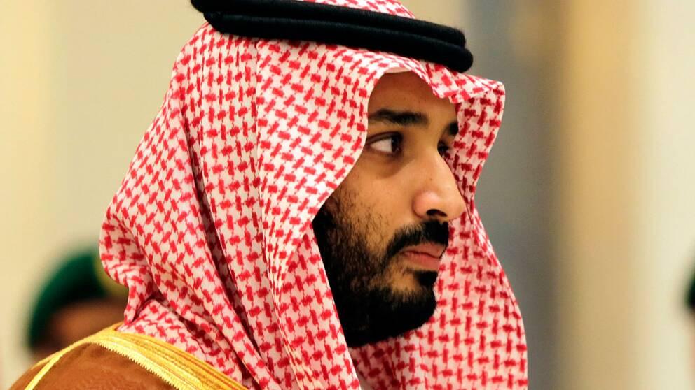 Den saudiske kronprinsen Muhammed bin Salman.
