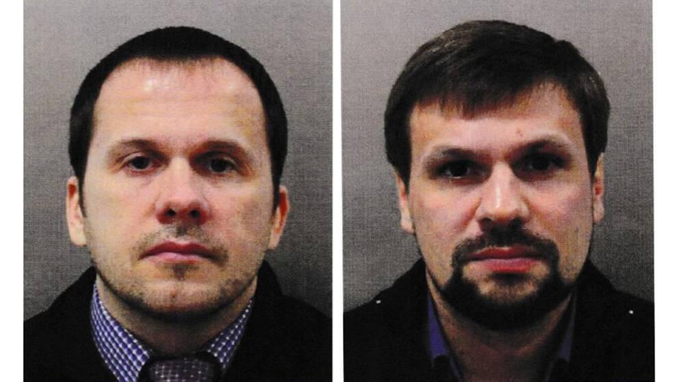 Läkaren Aleksandr Misjkin, anställd av den ryska militära underrättelsetjänsten GRU, och den före detta ryske översten Anatolij Tjepiga, pekas ut som ansvariga för giftattacken i Salisbury.