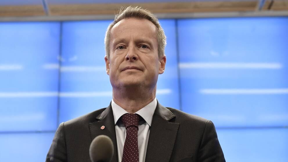 Anders Ygeman, Socialdemokraternas gruppledare i riksdagen.