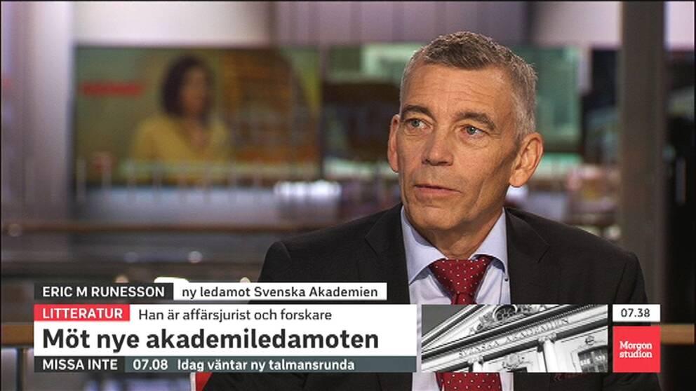 """""""Det kan vara bra att ha någon med juridiska kunskaper vid bordet"""", säger Eric M Runesson, i Morgonstudion."""