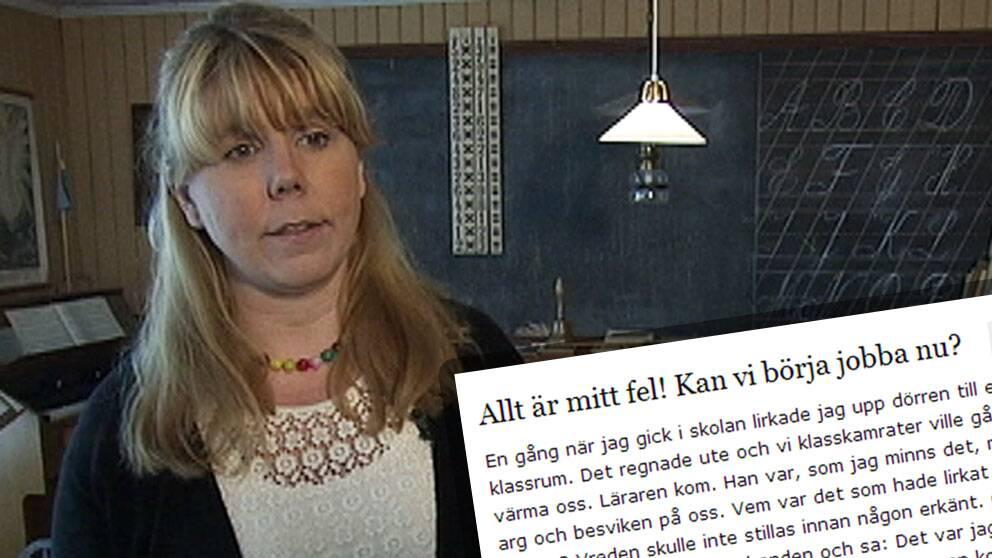 Läraren Karin Berg.