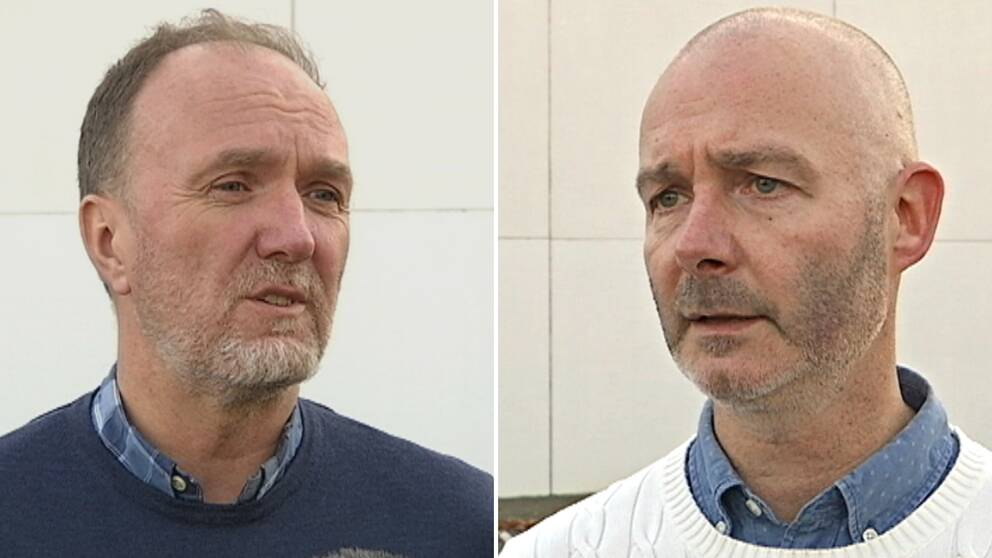 Dan Nordlöf, ordförande i Jönköpings IK och Stefan Angeskog, klubbchef i Växjö Vipers