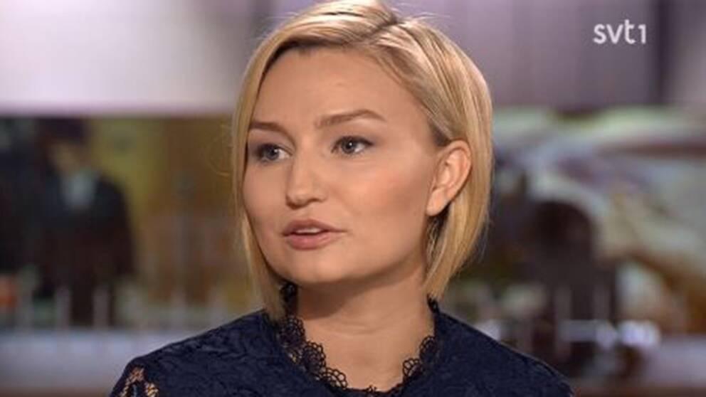 Kristdemokraternas partiledare Ebba Busch Thor (KD).