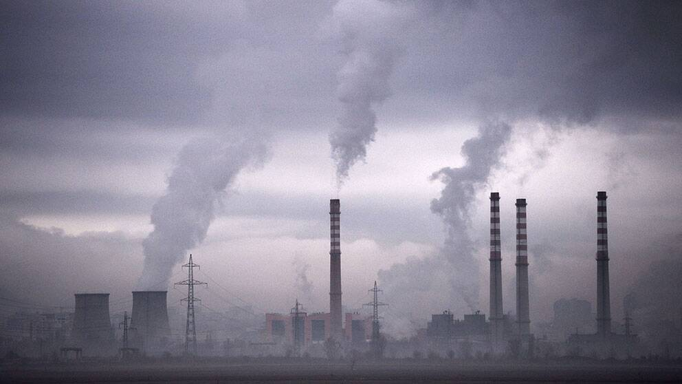 Bild få kolfabrik