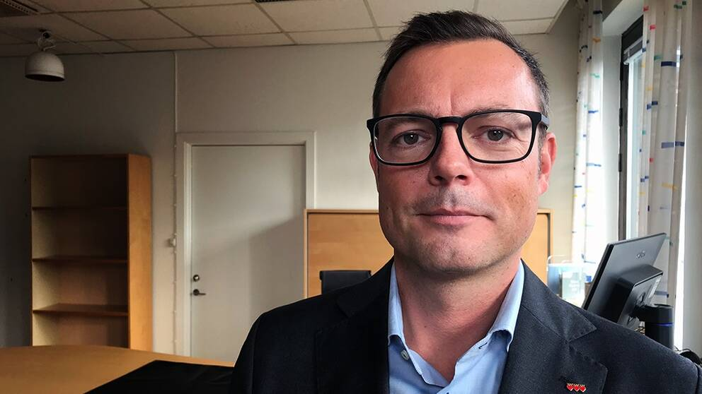 Jonas Bergman (M), kommunstyrelsens ordförande Halmstad.