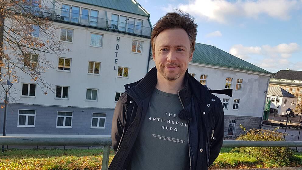 Tobias Persson besöker Halmstad, där han spenderade tre år i gymnasiet.