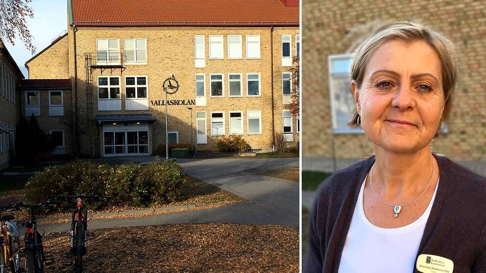 Anna-Lena Brantholm-Lööw, rektor vid Vallaskolan i Sollefteå.