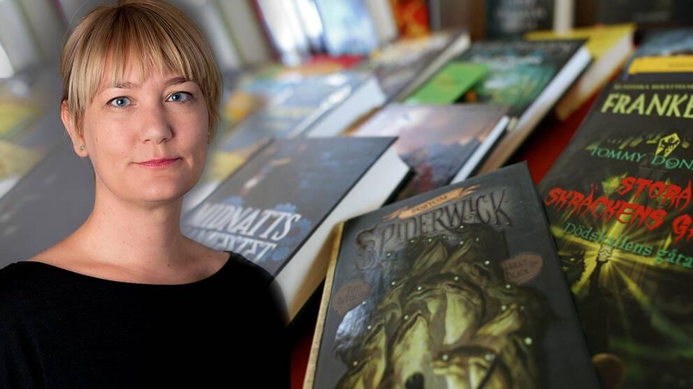 Sofia Gydemo på Svenska barnboksinstitutet.
