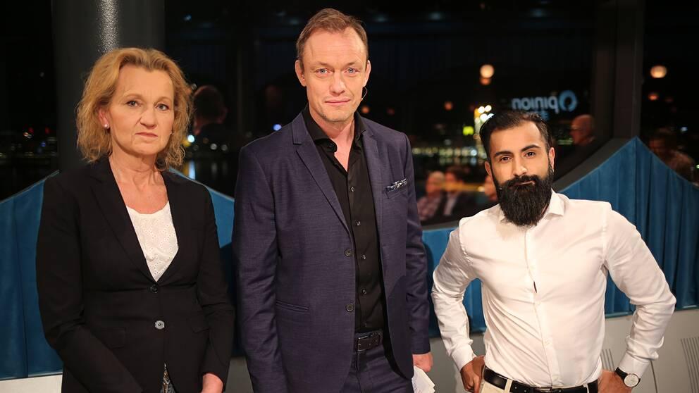Boel Godner, Petter Ljunggren och Hanif Bali.