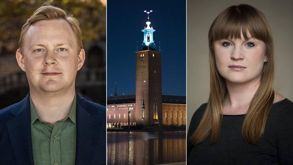Dennis Wedin (M) och Clara Lindblom (V).