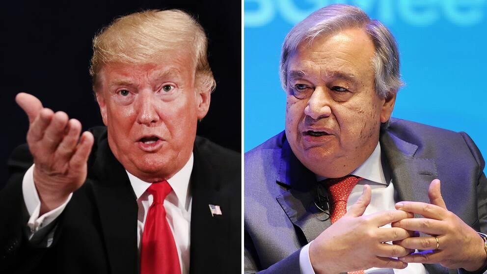 USA:s president Donald Trump och FN:s generalsekreterare António Guterres kom snabbt efter beskedet från den saudiske åklagaren med uttalanden kring fallet.