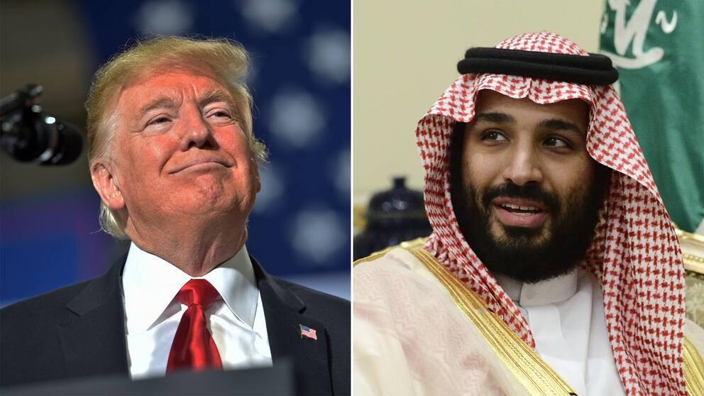 Donald Trump och Mohammed bin Salman