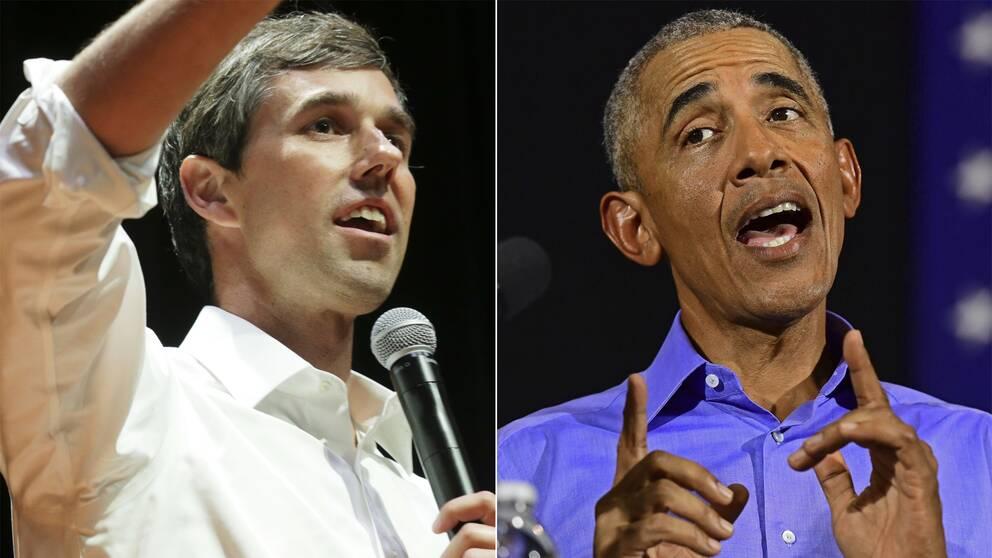 Beto O´Rourke och Barack Obama