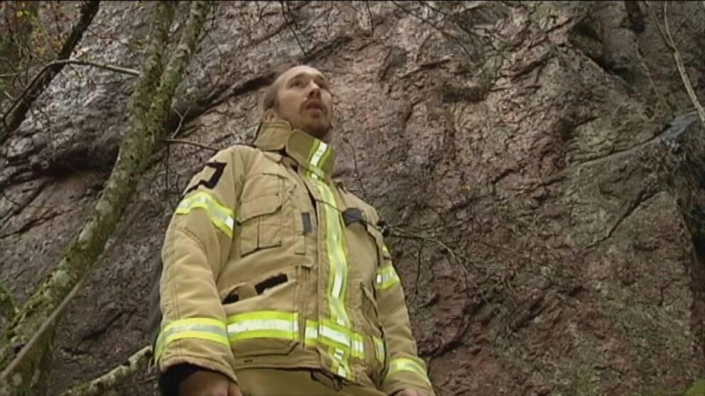 Karl Rhedin från räddningstjänsten