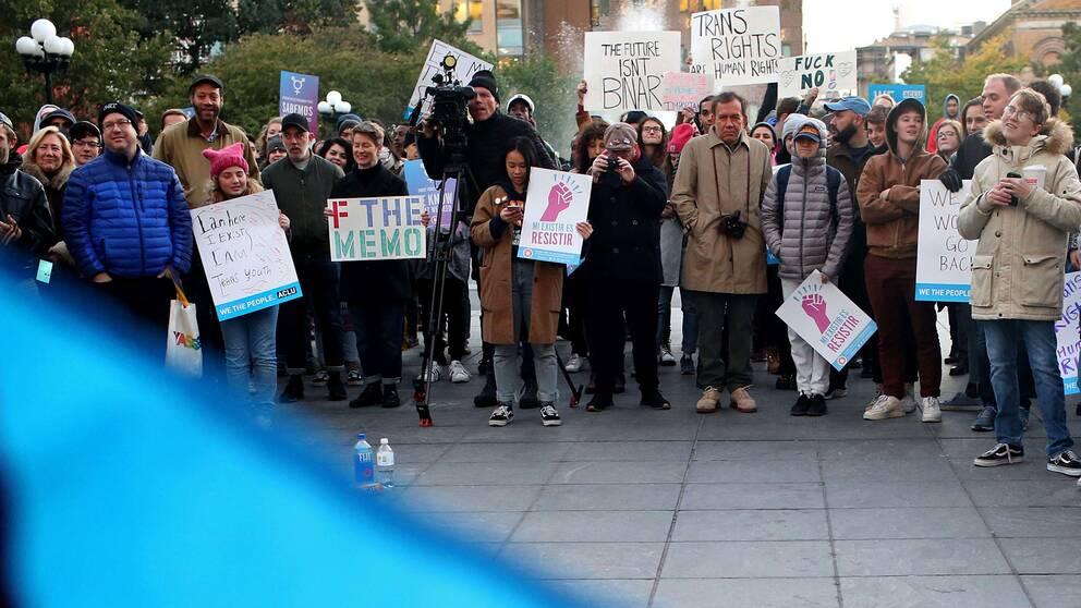 En manifestation i New York under söndagen för hbtq-personers rättigheter.