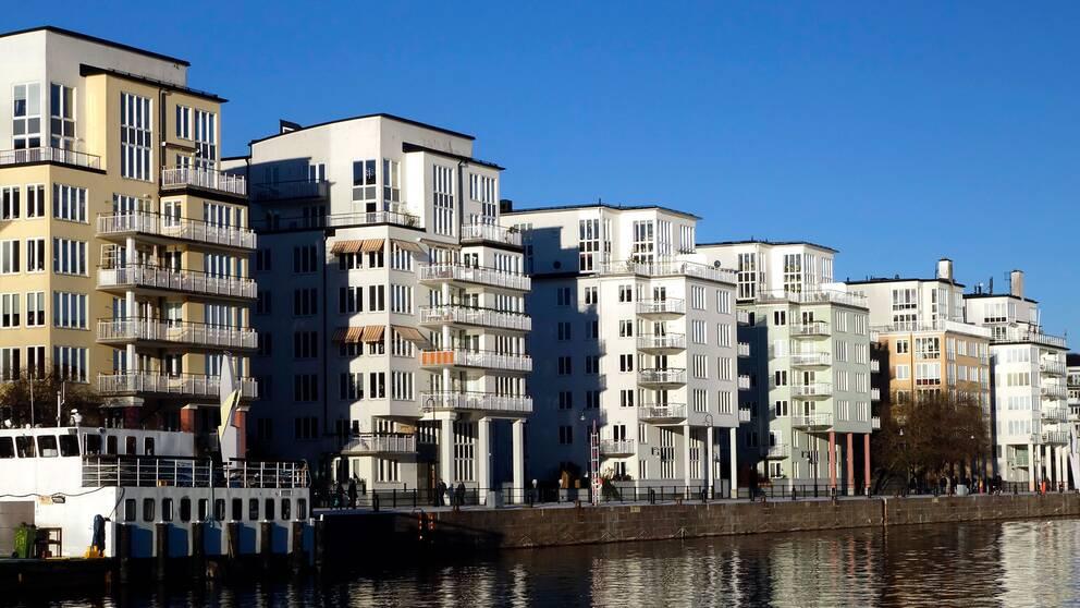 Bostäder i Norra Hammarbyhamnen.