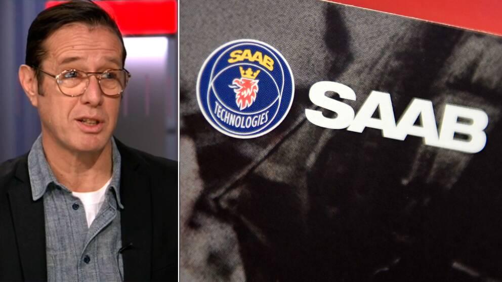 SVT:s ekonomireporter Peter Rawet och Saab