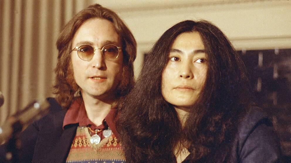 John Lennon och Yoko Ono tillsammans i New York 1973.
