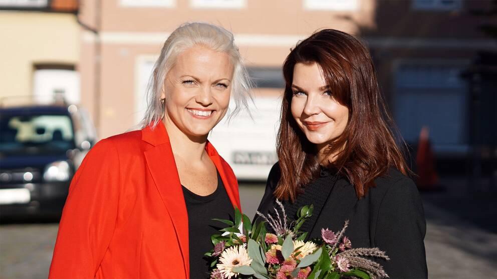 Emilie Pilthammar (M) och Louise Erixon (SD).