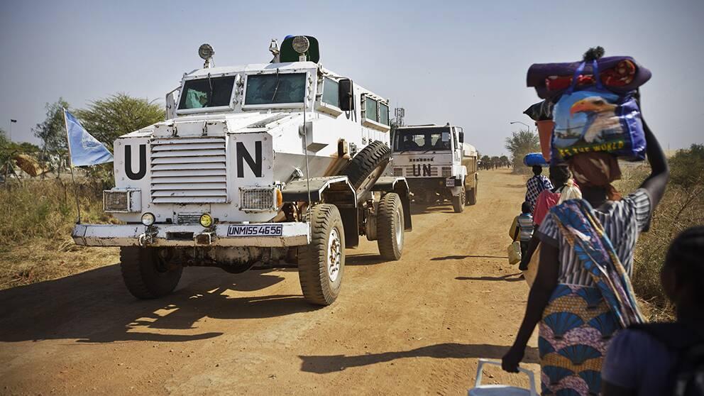 Attack vid sudans presidentpalats