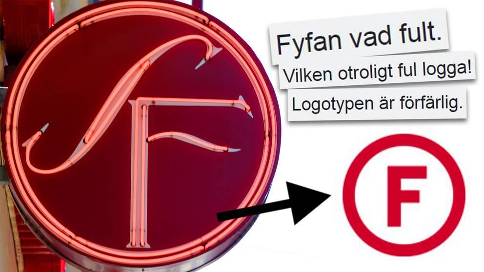 Logotypbytet välkomnades inte med öppna armar.