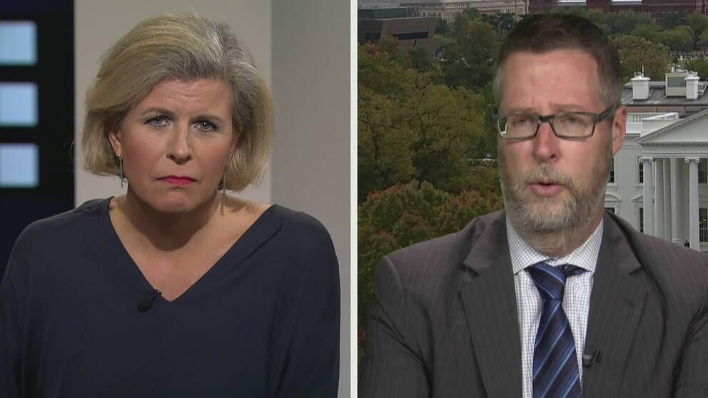 Ian Swanson, redaktionschef för The Hill i Washington, intervjuas i Agenda av Kristina Hedberg.