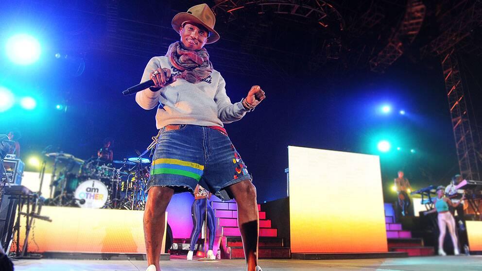 En av årets Coachella-artister är Pharrell Williams, som hade med sig mängder av gästartister på scen, bland annat Snoop Dogg, Gwen Stefani och P Diddy.