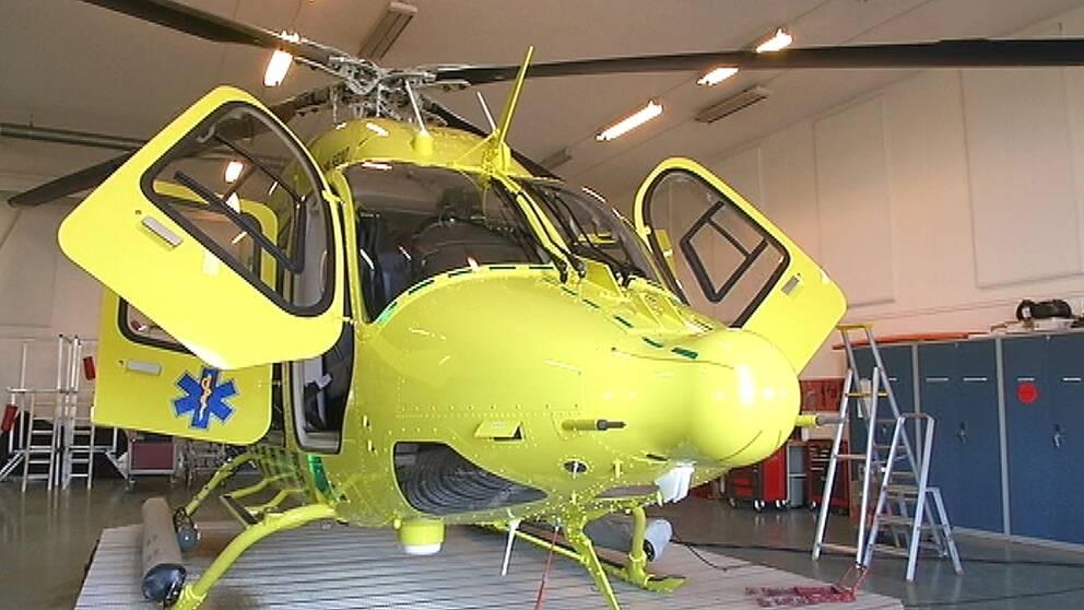 Gotlands nya ambulanshelikopter räddningshelikopter region gotland
