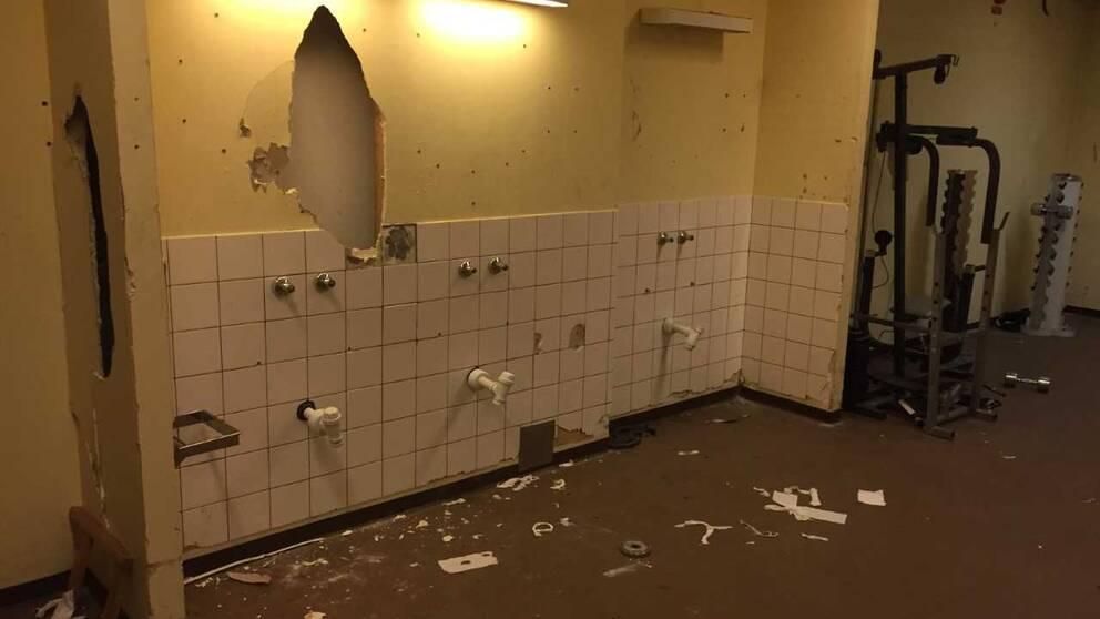 Bild från anläggningen i Fur efter att lokalerna tömdes i mars 2017.