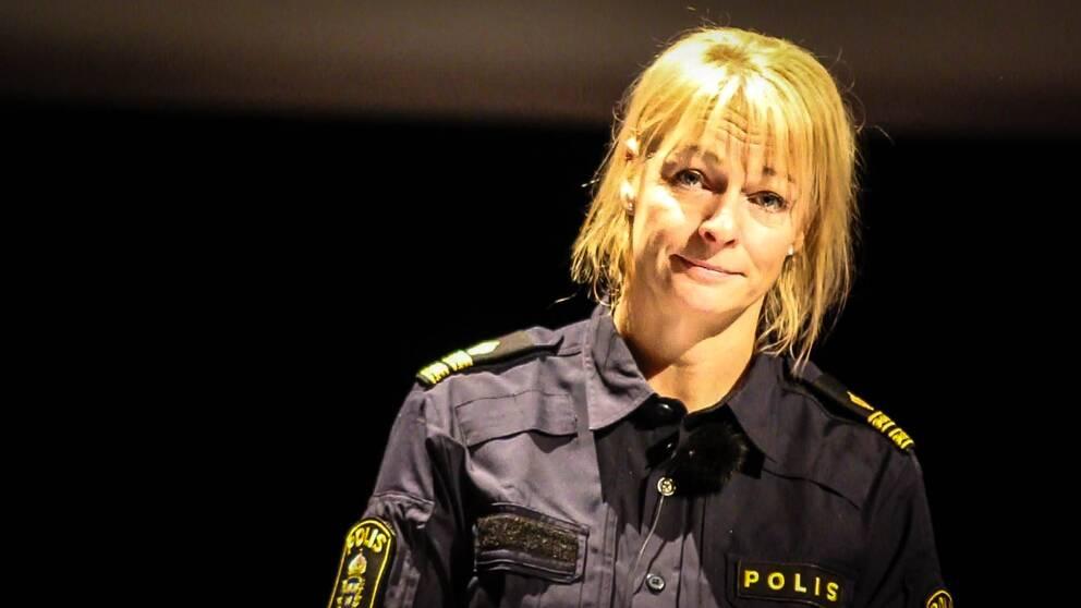 Åsa Sjöström, lärare vid polishögskolan i Umeå var på plats under temadagen.
