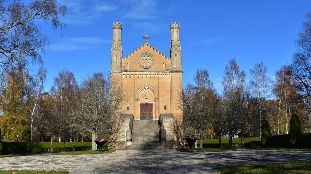 Det gamla krematoriet på Norra kyrkogården i Örebro.