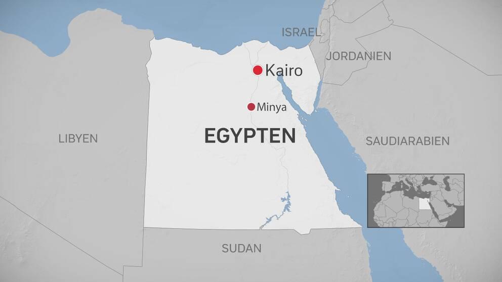 Hundratals doda i egypten