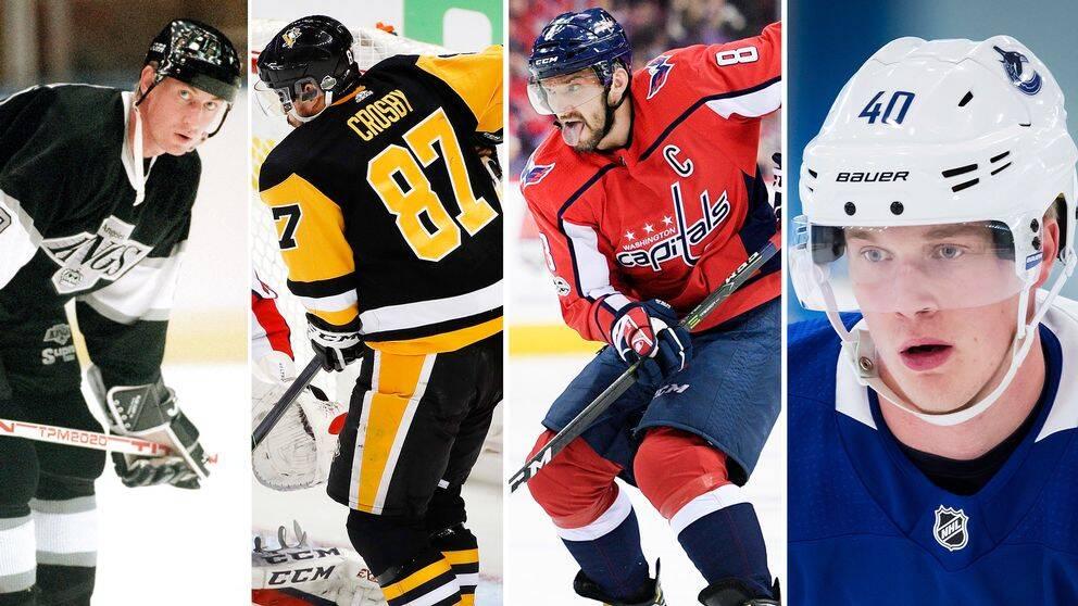 Svenske Elias Pettersson har inlett sin NHL-karriär starkare än vad någon av legendariska spelarna Wayne Gretzky, Sidney Crosby och Alexander Ovetjkin gjort.