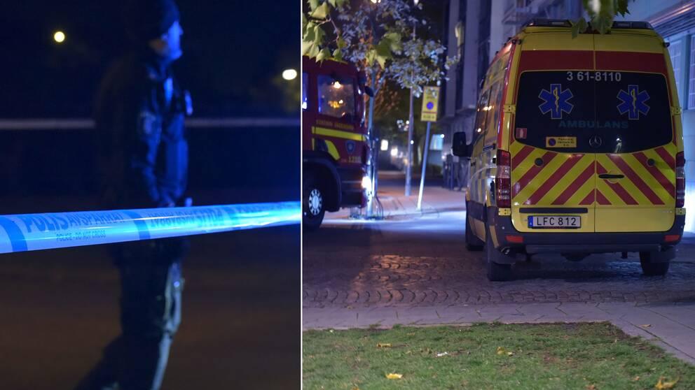 Här, precis i närheten av Zlatan Court på Rosengård, spärrade polisen av efter att taxichauffören blivit skjuten.
