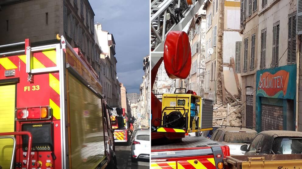 En byggnad har rasat samman i centrala Marseille.