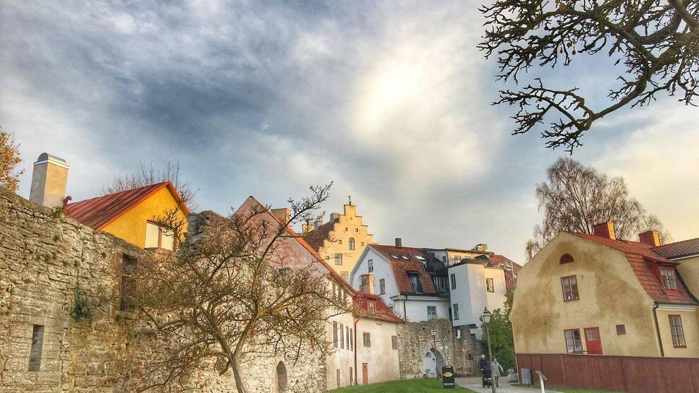 Visby, Almedalen, Världsarvsstad, Ruiner, Ringmur, Gotland, Kyrktorn, Hus, Medeltid