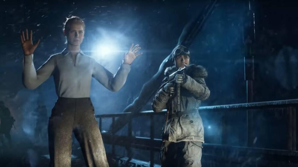 Tonåringen Solveig, till höger, tar strid mot den nazistiska ockupationen av Norge.