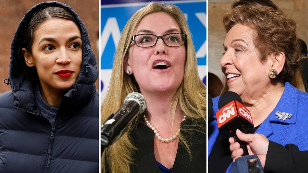 29-åriga Alexandria Ocasio-Cortez (New York) blir yngsta kvinnan någonsin kongressen, även Jennifer Wexton (Virginia) och Donna Shalala (Florida) vann sina val och tar nu över stolar som tidigare varit republikanska.