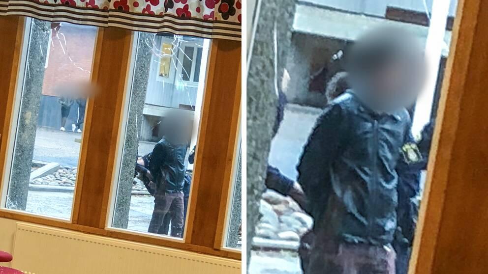 Polisen griper knivbeväpnad man vid Torsbergsgymnasiet i Bollnäs.