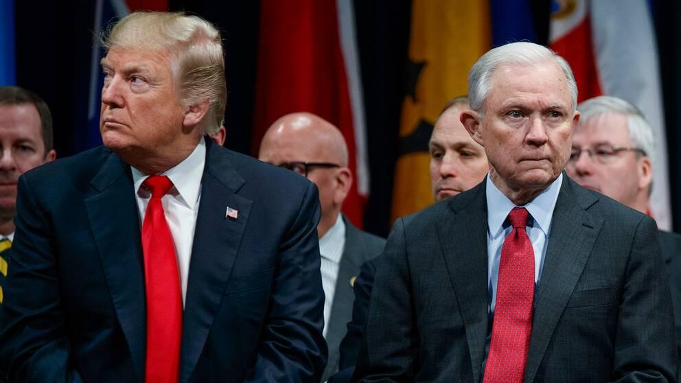 Donald Trump och Jeff Sessions