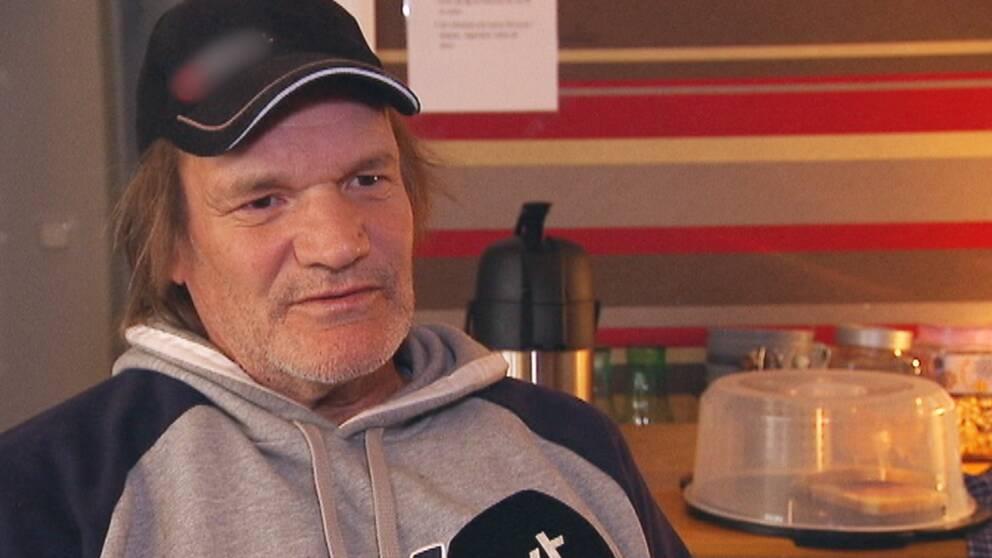 Hemlöse Bertil som bor på Värme och Vila i Kristnehamn