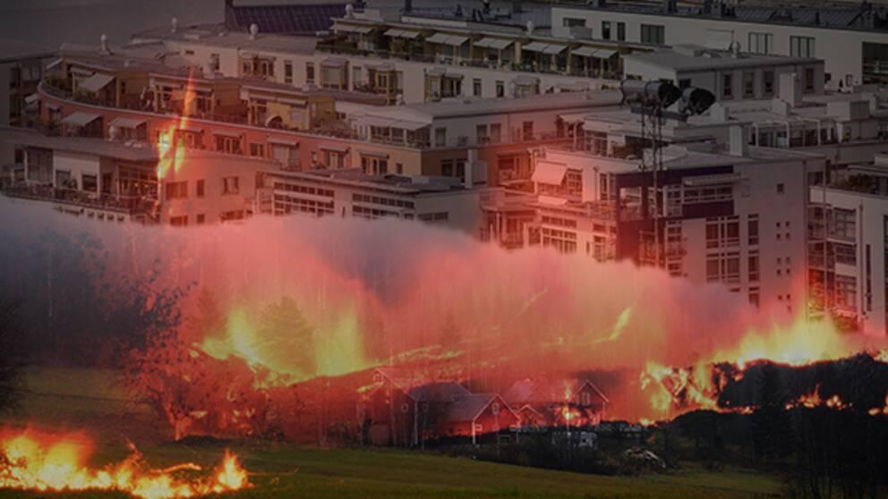 Stad och land i brand