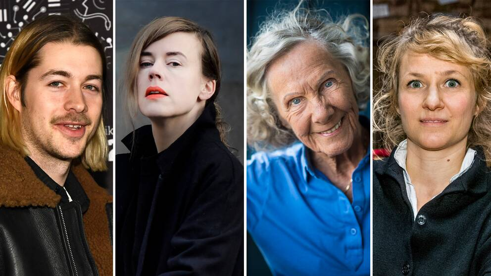 """Erik """"Fricky"""" Friman, Annika Norlin, Gullan Bornemark och Andrea Tarrodi"""