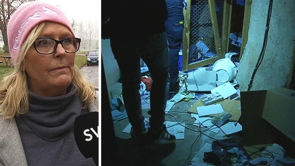Victoria Sterner från Världen i Värmland är chockad över hur de asylsökande tvingas bo