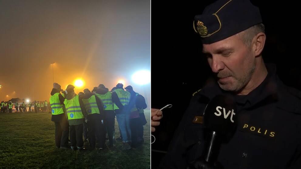 Efter att tusentals personer letat sedan i tisdags har man hittat en kropp som man tror är den försvunna 12-åringen, bekräftade polischef Christer Bartholtsson.