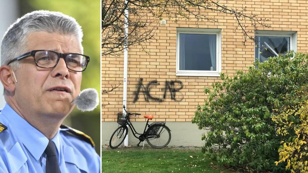 Anders Thornberg, rikspolischef och husfasad medklotter ACAB