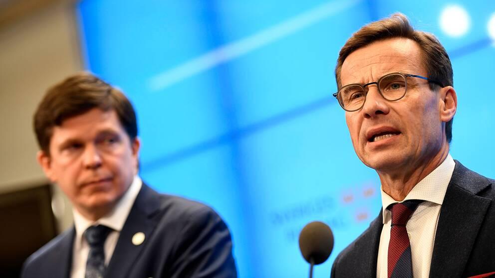 Ulf Kristersson (M) gav det väntade beskedet att han vill regera tillsammans med Kristdemokraterna