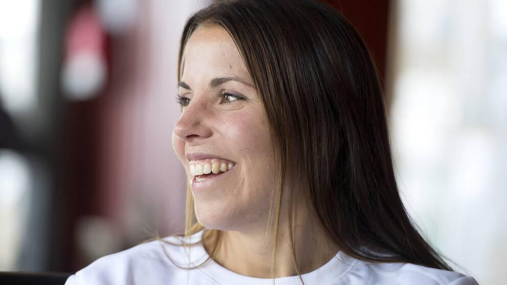 Charlotte Kalla prioriterar vegetariskt i kosten.