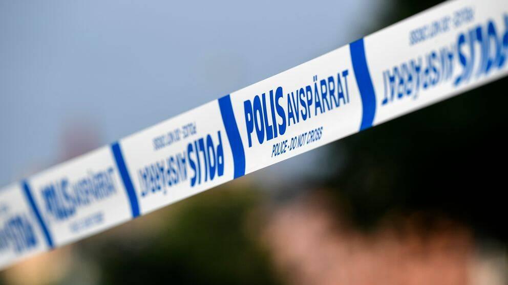polis, avspärrat
