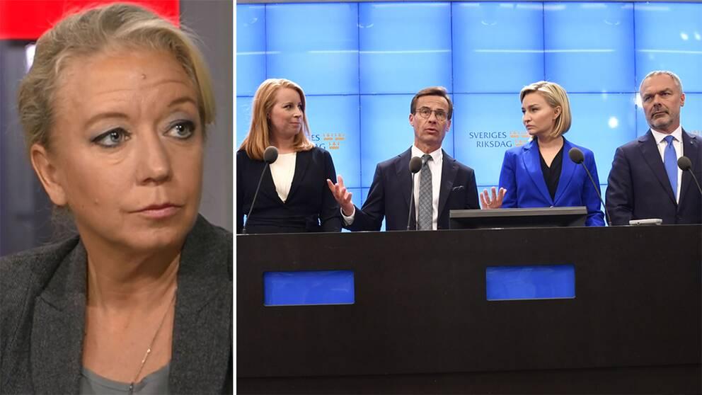 Elisabeth Marmorstein reder ut ordbråket mellan Lööf och Kristersson